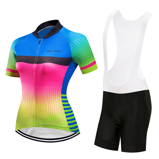 Breathable women cycling jersey set 2018 bicycle clothing mtb maillot bike  clothes short sleeve dress triathlon e85267044