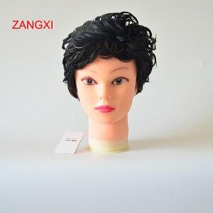 Image 3 - Манекен голова 52 смbald с черной подставкой для стола, 20 контактный женский манекен голова для париков, шляпа, дисплей, манекен, подставка для парика
