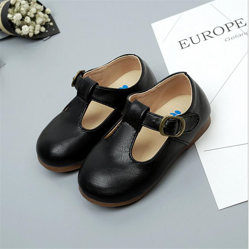 QGXSSHI New Girls Boys Soft Quality Leather Children Shoes Kids For Breathable Sneakers Flats With Soft Soft bottom Babys Shoes