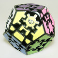 Lanlan Megaminx Magic Cube Puzzle Black IQ Brain Speed Puzzles toy learning & education cubo magico personalizado Game cube toys