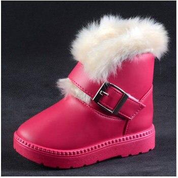 Мода PU кожа кофе черный ярко-розовый дети маленькие девочки обувь новый 2016