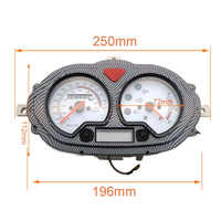 B08 B09 Motorcycle GY6 80cc 125cc Scooter Digital Display Light Gas Gauge Moped Speedometer