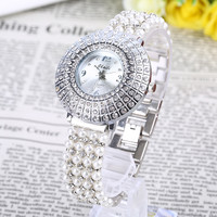 JBAILI Woman S Bracelet Watches Hodinky Luxo Diamond Alloy Business Wristwatch Classic Students Dress Clock Girls