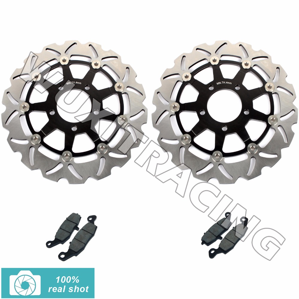 Front Brake Discs Rotors Pads for SUZUKI GSF 650 GSF650 / ABS 2005 06 SV 650 SV650 / S 2003-2010 07 08 GSX750 GSX 750 2004-2006