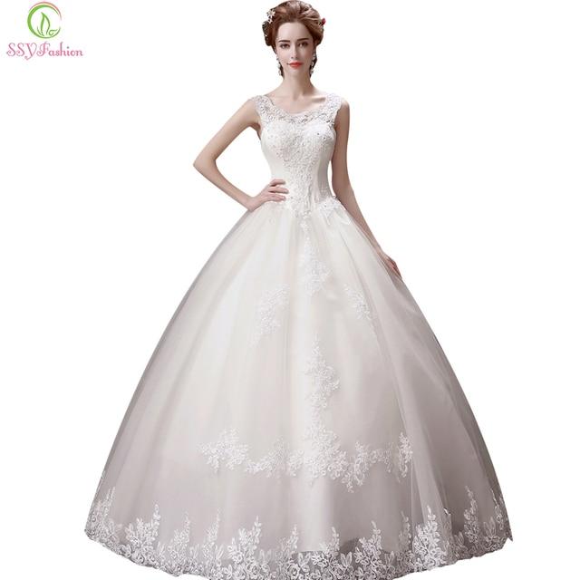 Ssyfashion Long Sleeve Wedding Dresses The Bride Elegant: SSYFashion 2017 Bride Married Luxury Lace Embroidery