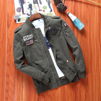 Men Military Jackets Mens Army Green Jackets and Zipper Eqaulet Coats Chaqueta Hombre Veste Homme Cazadoras Hombre