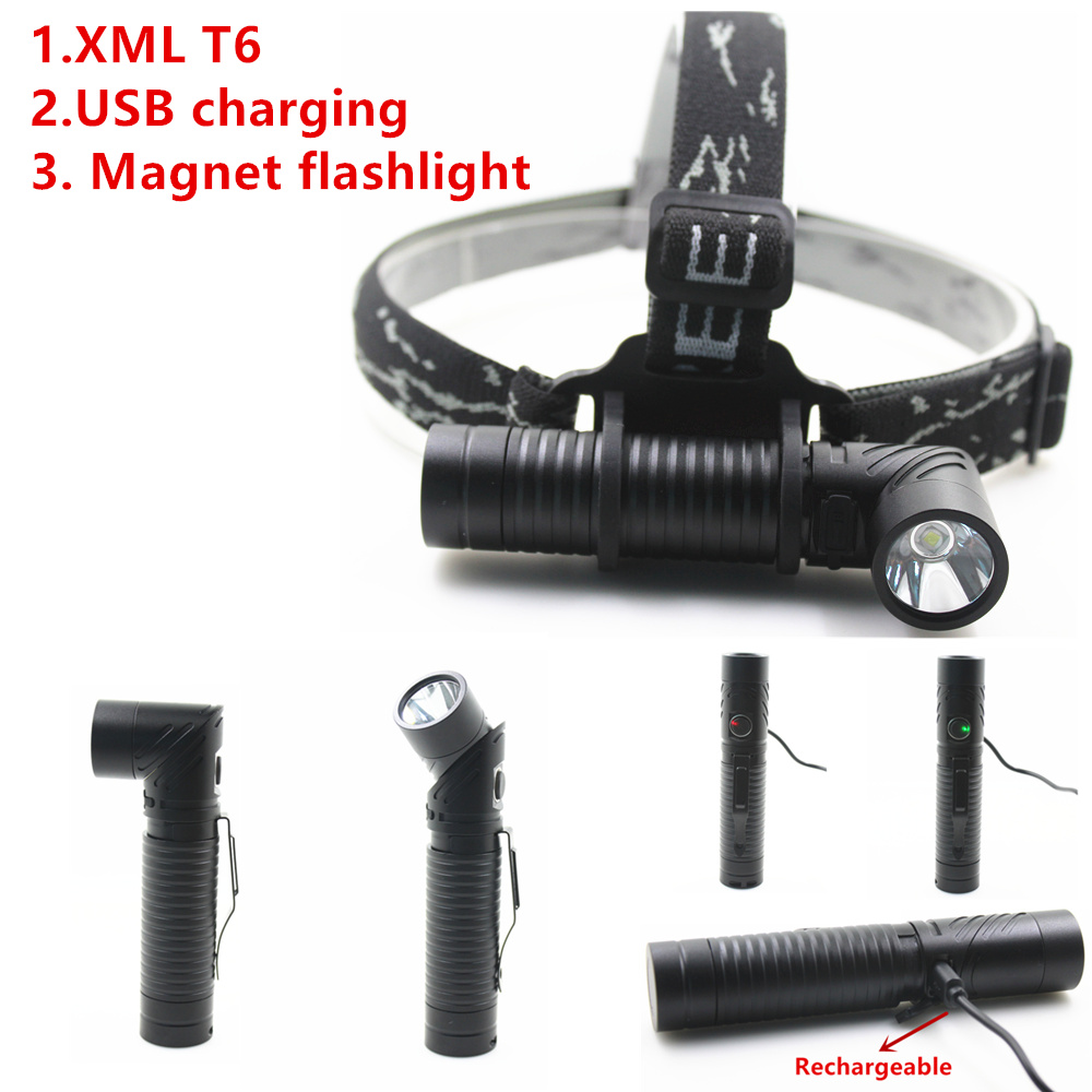 2018 new Xml T6 USB Rechargeable headlamp Headlights headlight 18650 head lamp for camping led flashlight sitemap 28 xml