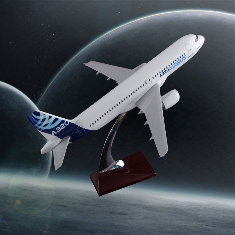 37cm Prototype Aero Model A320 Original Model Resin Airplane Aircraft Model Aviation Airbus Creative Gift Handicraft Wholesale offer wings xx2615 special jc cuba aviation ei tlj 1 200 a320 commercial jetliners plane model hobby