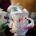 Эмалированная фарфоровая кофейная кружка с павлином креативная керамическая кружка 3D цветная офисная домашняя Кружка Кофейные чайные наб...