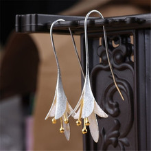 Bohemian Flower Dangle Earrings for Women Fashion Jewelry Romantic Wedding Statement Brincos Engagement Ladies Hook Earings