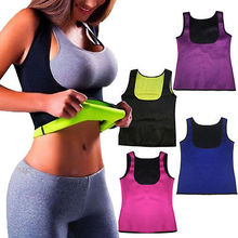 0047eb6263ffe Hot Women Clothes Neoprene Body Shapers Slimming Waist Slim Trainer Vest T- Shirt Tops New