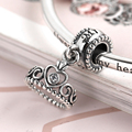 Hot Sale Silver Charms for Bracelets and Bangle My Princess Tiara Dangle Elegant Jewelry DIY Beads as Gift for Women