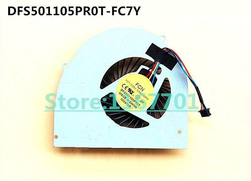 Оригинальный вентилятор охлаждения процессора ноутбука/ноутбука для Dell Latitude E6540 Precision M2800 072XRJ DFS501105PR0T-FC7Y
