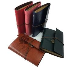 RuiZe Vintage notebook A5 leather travel journal traveler notebook blank pages craft paper retro sketchbook spiral