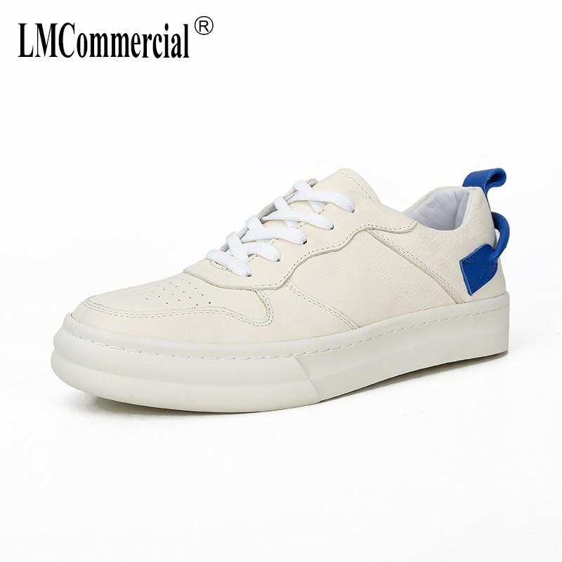 Zapatos Cuero Diseñador Para Casuales Transpirable Hombres Ocio Hombre Zapatillas Br De Retro blanco Blancos Vaca Negro Genuino Los Deporte 8qwwxtdP
