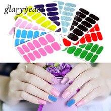 Яркие 1 шт., полное покрытие, украшение для ногтей, Простой чистый блеск, обертывание, наклейка, красочные аксессуары для дизайна ногтей, маникюра