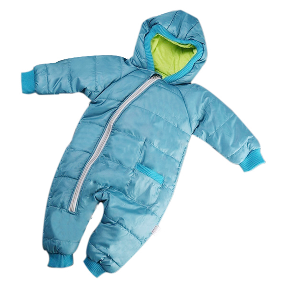 Winter Baby Girl Boy Kid Toddler Snowsuit Coat Jacket Jumper Outwear Clothes 1PC blue 1-2 Years