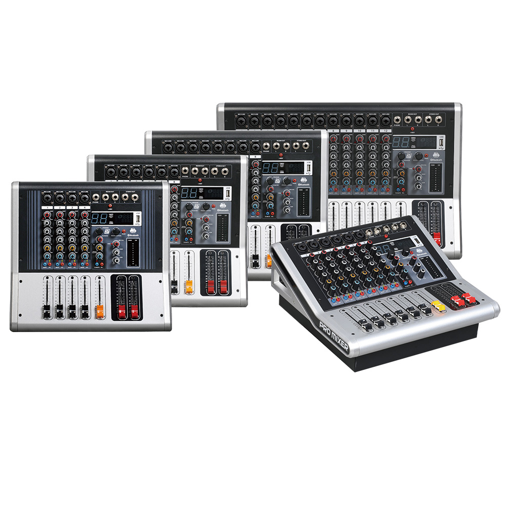 Mixing console recorder 48 V phantom power monitor AUX effect path 4 12 channel audio mixer