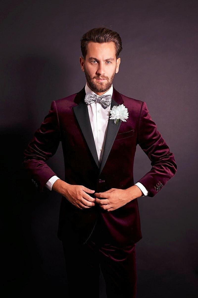 Aliexpress.com : Buy Forma Wedding Men Suit Red Slim Fit Costume ...