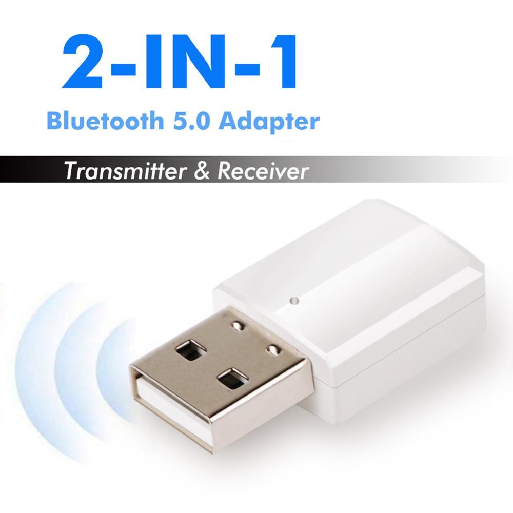 ZF169 мини Портативный Bluetooth V5.0 ресивер аудио, включающим в себя гарнитуру блютус и флеш-накопитель USB передатчик адаптер для ТВ/ПК наушники Ди...