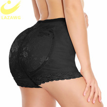 LAZAWG Women Butt Lifter with Pad Body Shaper Tummy Control Panties Boyshorts Shapewear Lace Brief Fajas Padded Big Ass