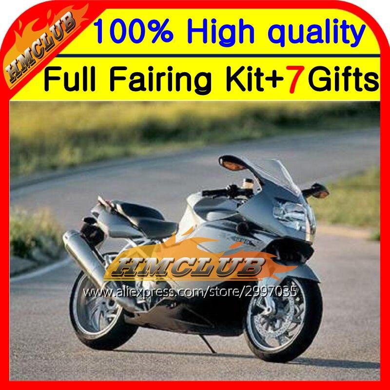 Средства ухода за кожей для BMW K1200S 05-08 K1200 серебристо-черный S K 1200 S 1hm19 K1200S 05 06 07 08 серебристый 2005 2006 2007 2008 k-1200 обтекатель