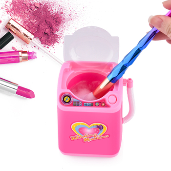 Mini Makeup Brush Cleaning Electric Cleaner Simulation Children Play Toy Cosmetic Wash Makeup Brushes Machine Washer Tool