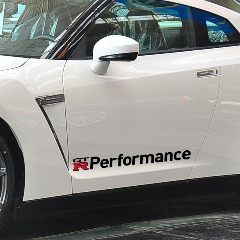3 Pairs GTR PERFORMANCE Car Door sticker Car-Styling For Nissan qashqai 2015 juke x-trail tiida note almera accessories