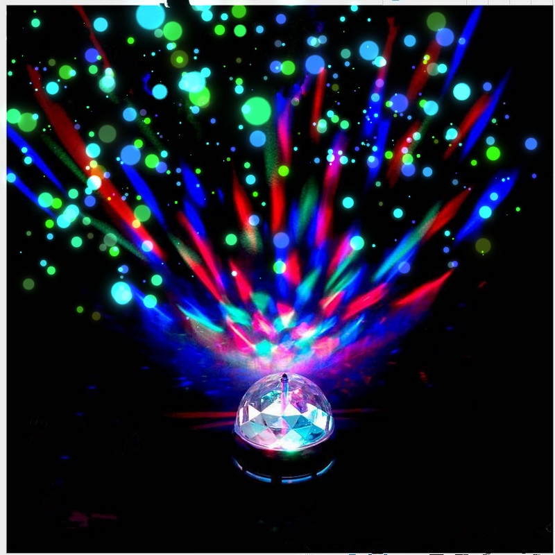 3W E27 Rotating LED Club Pub Disco Home Party Ktv Crystal Magic Ball Stage Effect Light AC 85-265V