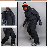 Премиум Издание Southplay Зима 10000 мм водостойкий Лыжный Сноуборд (куртка + брюки) черный костюм наборы для ухода за кожей