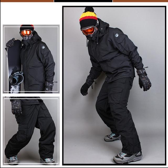"""Премиум Издание """"Southplay"""" Зима 10000 мм водостойкий Лыжный Сноуборд (куртка + брюки) черный костюм наборы для ухода за кожей"""