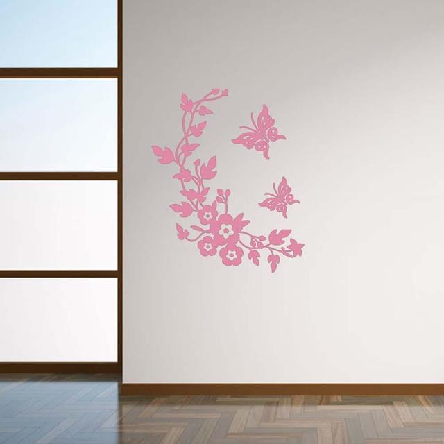 Neue Schmetterling Blume Reben Bad Wandaufkleber Dekoration