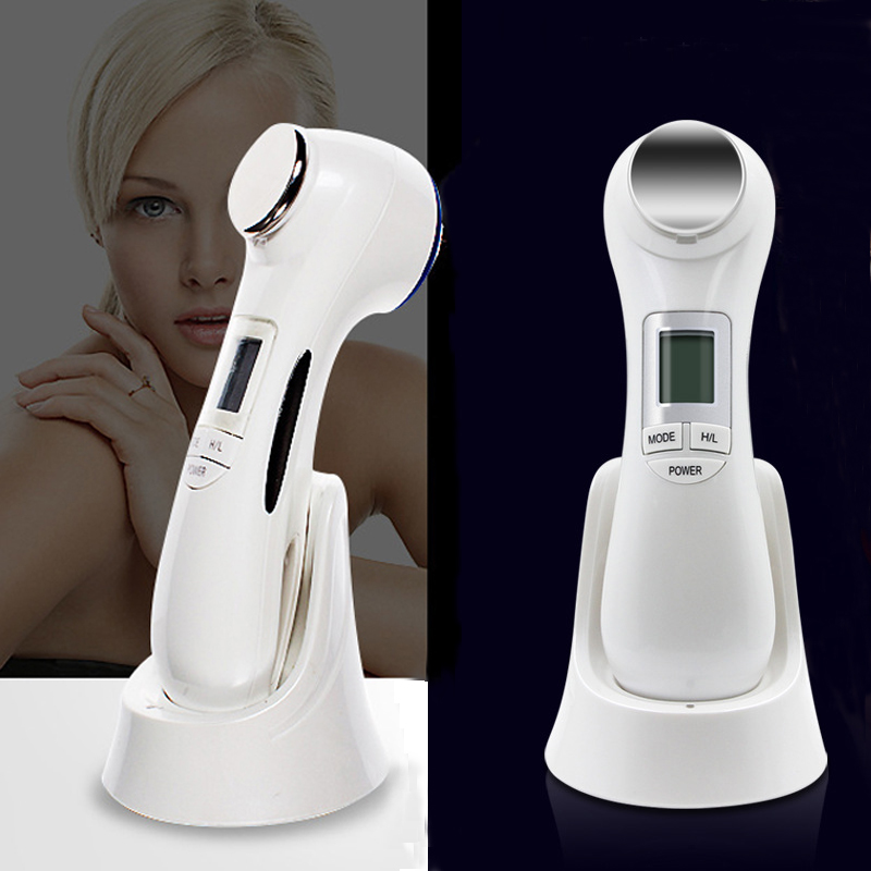 5 in 1 LED RF Photon Therapy Facial Skin Lifting Rejuvenation Vibration Device Machine EMS Ion