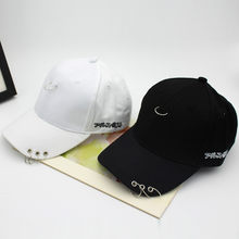 Hami Otwo Wholesale Spring Cotton Cap Baseball Cap Snapback Hat Hip Hop Japan Cap hats for Men Women steel ring black white hat(China)