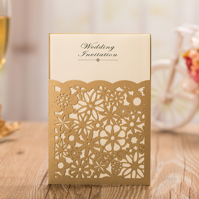 Gold laser cut wedding invitation cards 2015 elegant wedding gold laser cut wedding invitation cards 2015 elegant wedding invitations wedding suppliescustomized invitation card stopboris Image collections