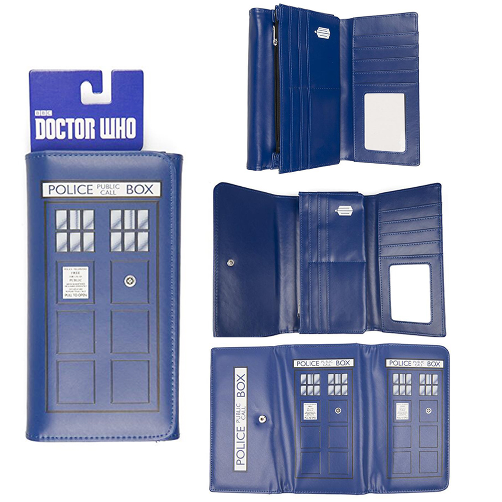 Doctor Who Wallet Long Style High Quality Wallets Dr Who PU Leather Zipper Purses Tardis Cosplay Money Bag Card Holder