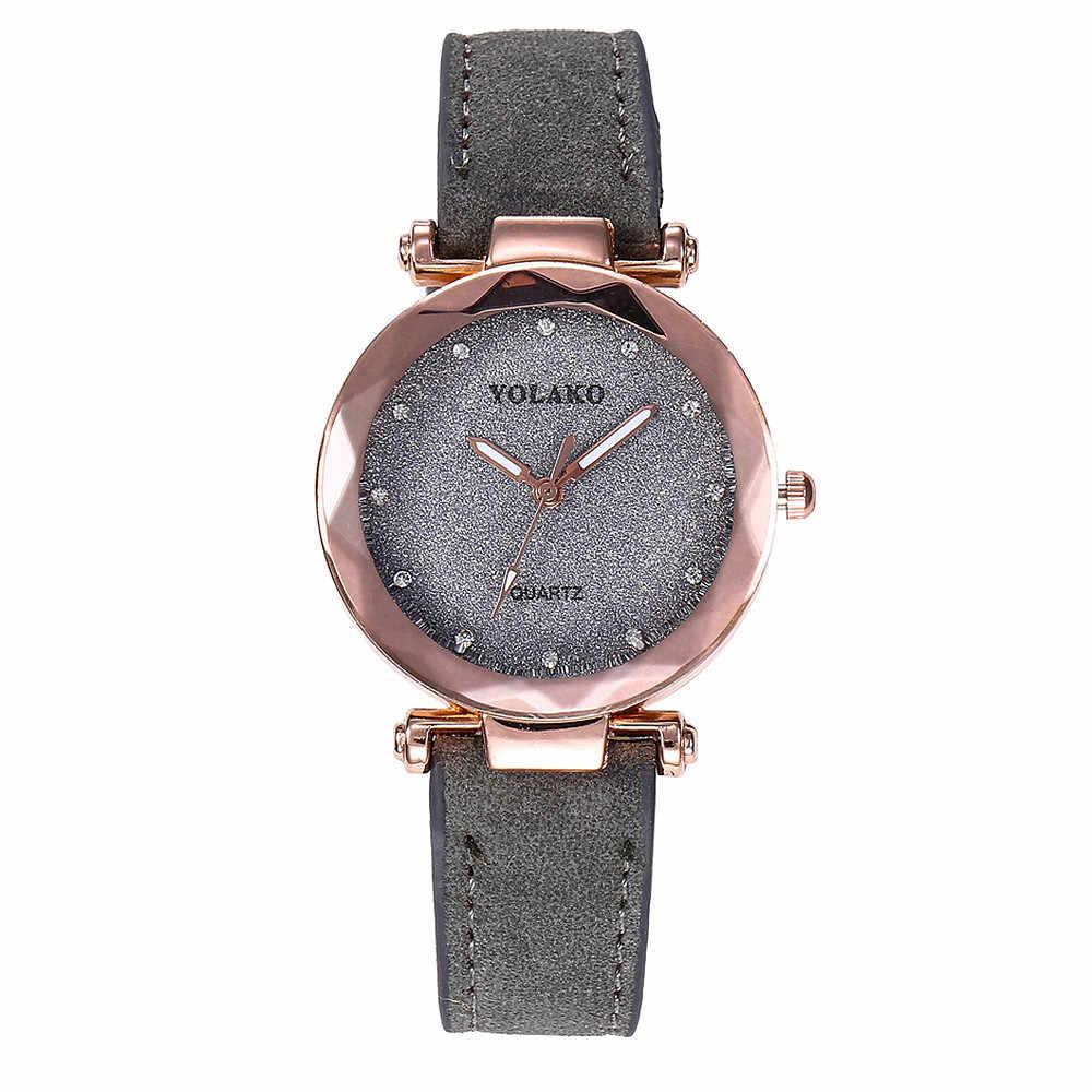Мятно-Зеленые простые женские часы для отдыха стильная простота кожаный браслет женские наручные часы relojes mujer 2018