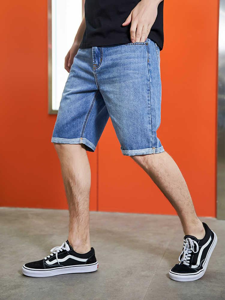 Pioneer Camp 2019 летние новые мужские Стрейчевые короткие джинсы модные повседневные облегающие высококачественные джинсовые шорты Мужская одежда ANZ908071