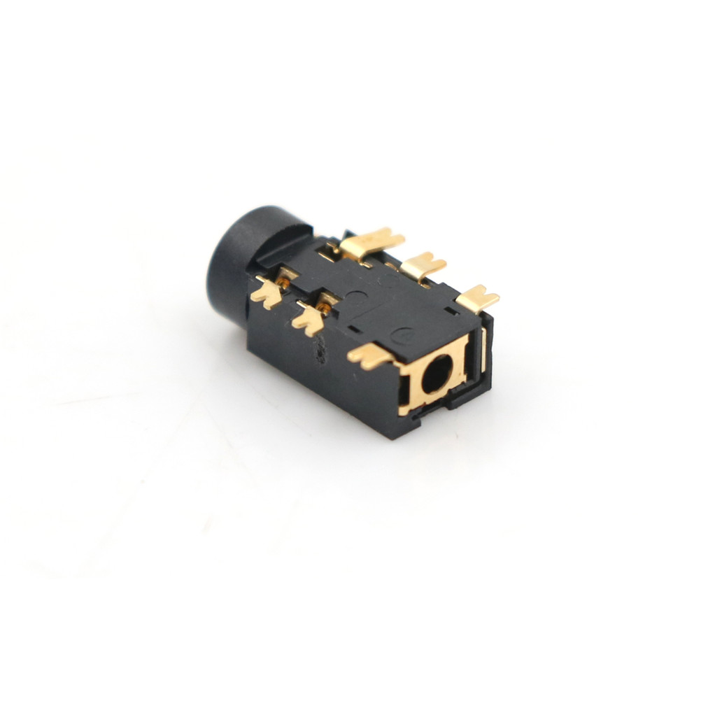 10PCS <font><b>2.5MM</b></font> Female <font><b>Audio</b></font> Connector 6 Pin SMT SMD Headphone <font><b>Jack</b></font> Socket PJ-242 Gold-plated <font><b>Audio</b></font> Socket PJ242 High Quality image
