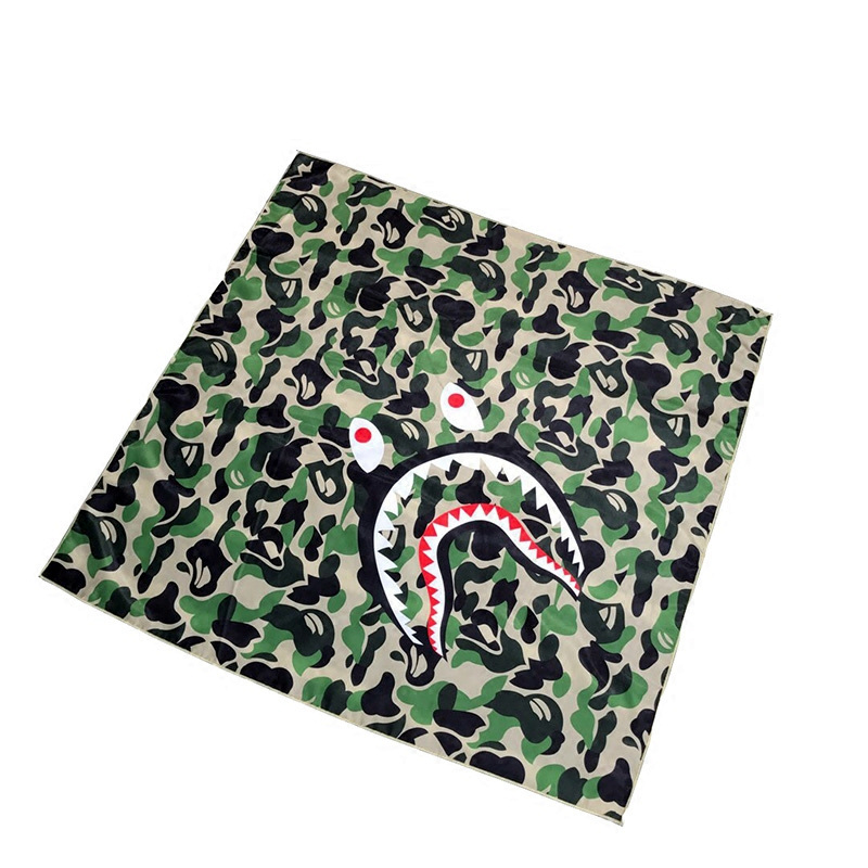 Camouflage Shark Mask kerchief Square scarf Riding cover Hiphop Street  Dance Men women coverchief headcloth babushka camo-in Party Masks from Home    Garden ... 6cb034b6a739