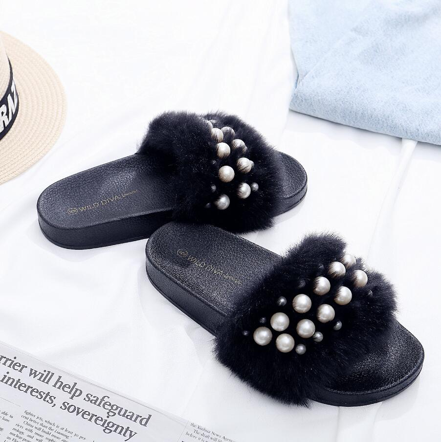 Hus Design Kvinnor Girlish Mujer Casual Fashion Babouche Downy Pearl - Damskor - Foto 3