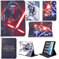 luxury fashion case for iPad mini 1 2 3 4 ipad 2 3 4 5 6 ipad air air 2 PU Leather Stand Silicone Cover Star Wars Children Case