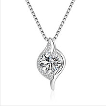 Everoyal Luxury Crystal Geometric Girls Pendant Necklace Jewelry New Fashion Silver 925 Women Choker Necklace Female Accessories everoyal new arrival female crystal pendant necklaces for women jewelry fashion silver 925 girls choker necklace accessories