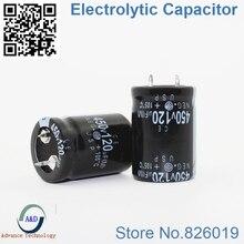 8 шт./лот 450 В 120 мкФ радиальный DIP Алюминий электролитический Конденсаторы размер 22*30 120 мкФ 450 В