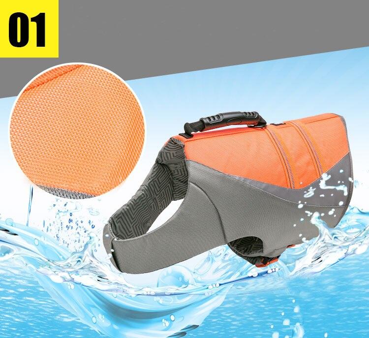 Truelove Pet Dog Life Jacket Vest Flotation Device Safety Adjustable Reflective Secure Swimwear Dog Life Saver french bulldog (4)