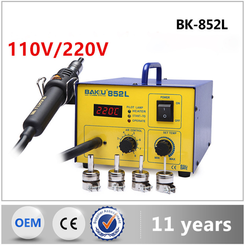 BK-852L hot air gun, digital display desoldering station, constant temperature hot air gun repair tool yaxun 850 hot air gun desoldering station