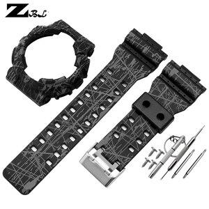 Image 2 - Silicone braccialetto di gomma per casio g shock GD GLS GA 100 110 120 Watch Band Convesso Della Cinghia del cinturino e cassa di Gomma cinturino di vigilanza