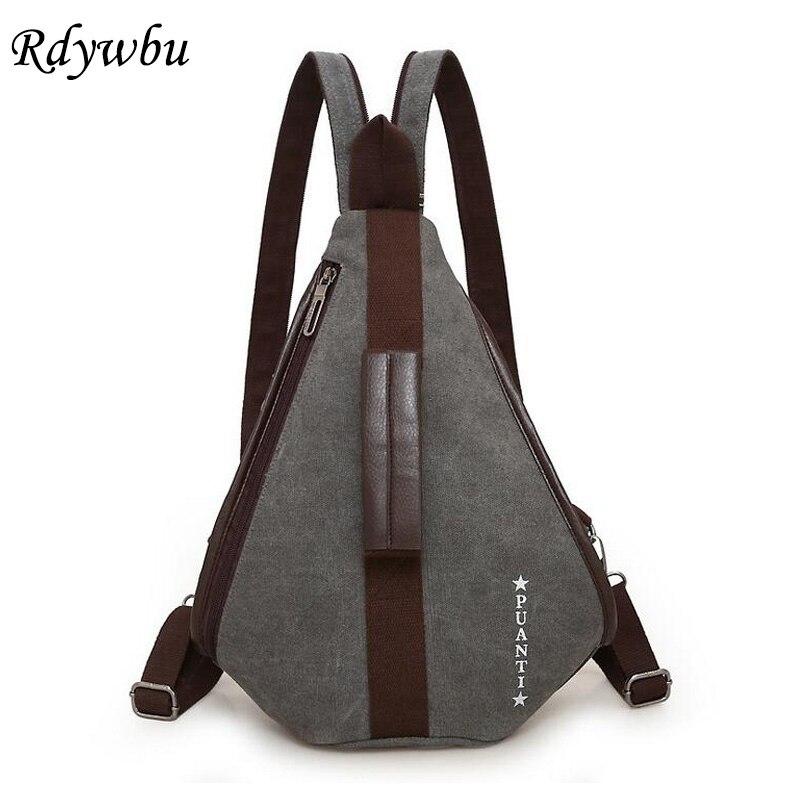Rdywbu Creative Multifunctional Canvas Backpack Unisex Big Capacity  Shoulder Chest Bag High Quality Vintage Travel Rucksack a615c6332afae
