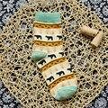 4 cores o novo padrão de urso das mulheres grosso linhas em meias tubo