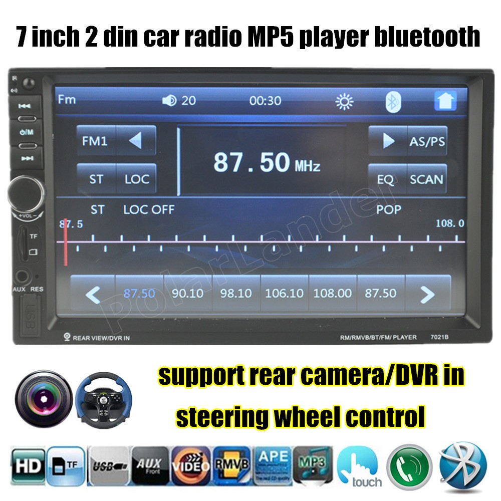 "7"" Inch 10 Languages Touch Screen 2DIN HD Car Radio MP5"